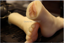 Free Shipping!silicone sex toys for men,36# female fake feet with real vagina,feet fetish I508