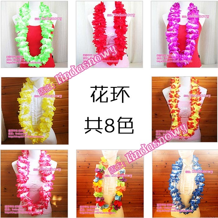 Luxury beach hula skirt props hair accessory garishness neck ring