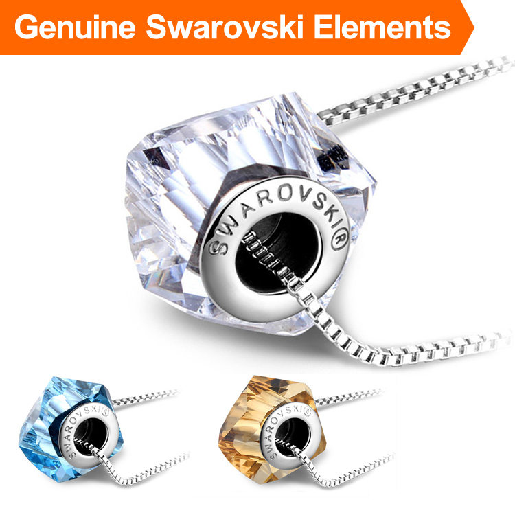 Genuine Brand Logo Necklace Crystal Men Jewelry Made With Swarovski Elements Luxury Brand Jewellery Gifts For Women Necklaces