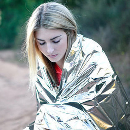 Outdoor emergency blanket 210*130cm Polarshield survival lightweight rescue thermal blanket
