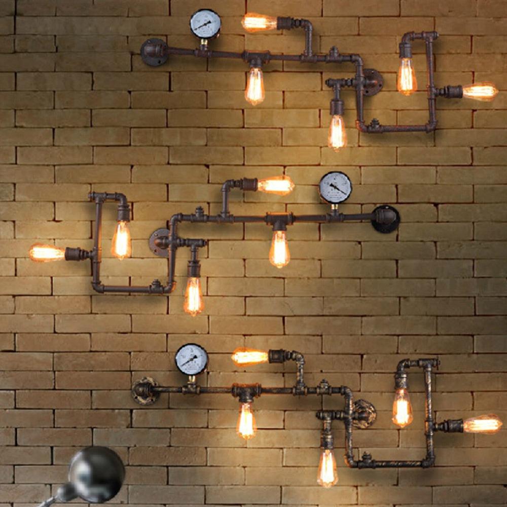 Wall Light For Steam Room : 1 PC Nordic Vintage Industrial Steam Pipe Bar Bedroom Sconce Wall Light E27 Art Decor Lighting ...