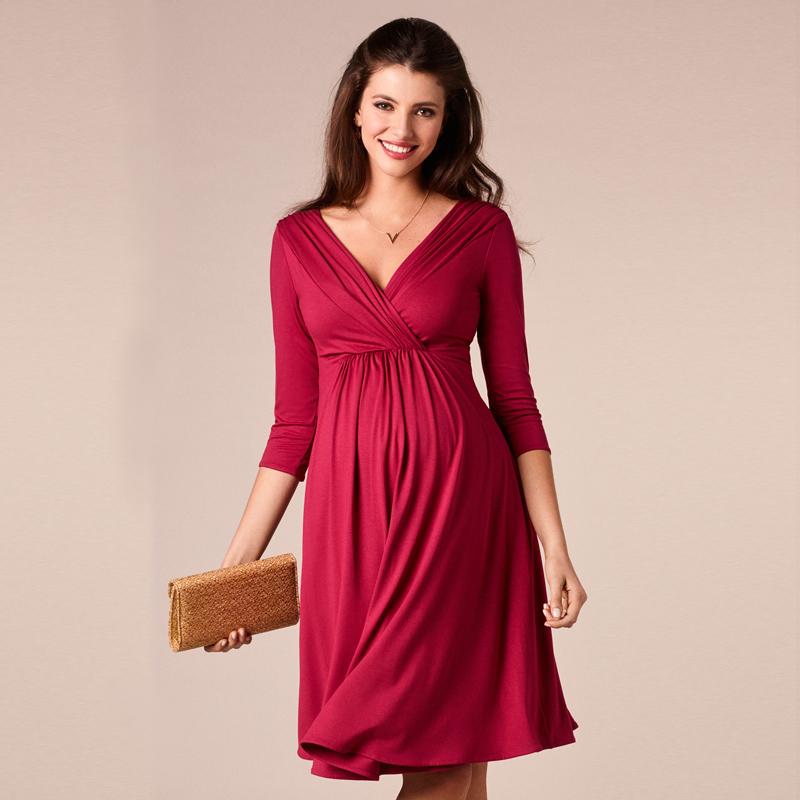 Платья для беременных до колена