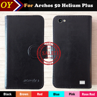 OYO Case Archos 50 Helium Plus Helium + Factory price Flip Leather Protective Phone Case Cover Luxury Leather Wallet Design