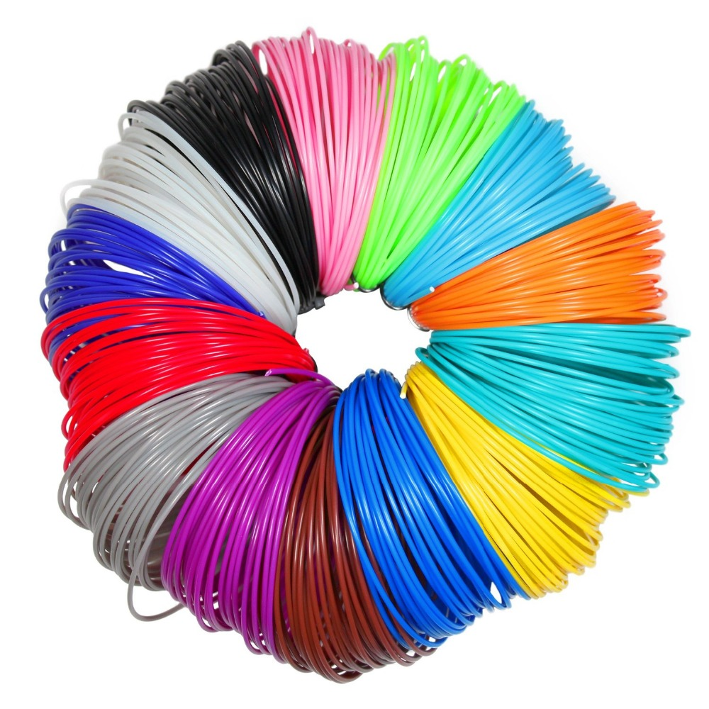 Hot Sale 3D Pen Filament ABS 1.75mm , Pack of 20 colors (4Glow in the Dark)-16 Feet (5 Meters) per color Gift for Child