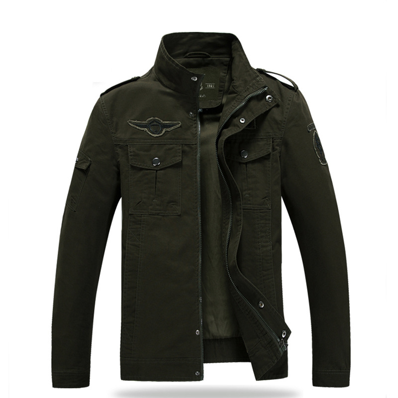 Army green wind jacket male jacket spring and autumn men's fashion jacket men's clothing wholesale and retail A005(China (Mainland))