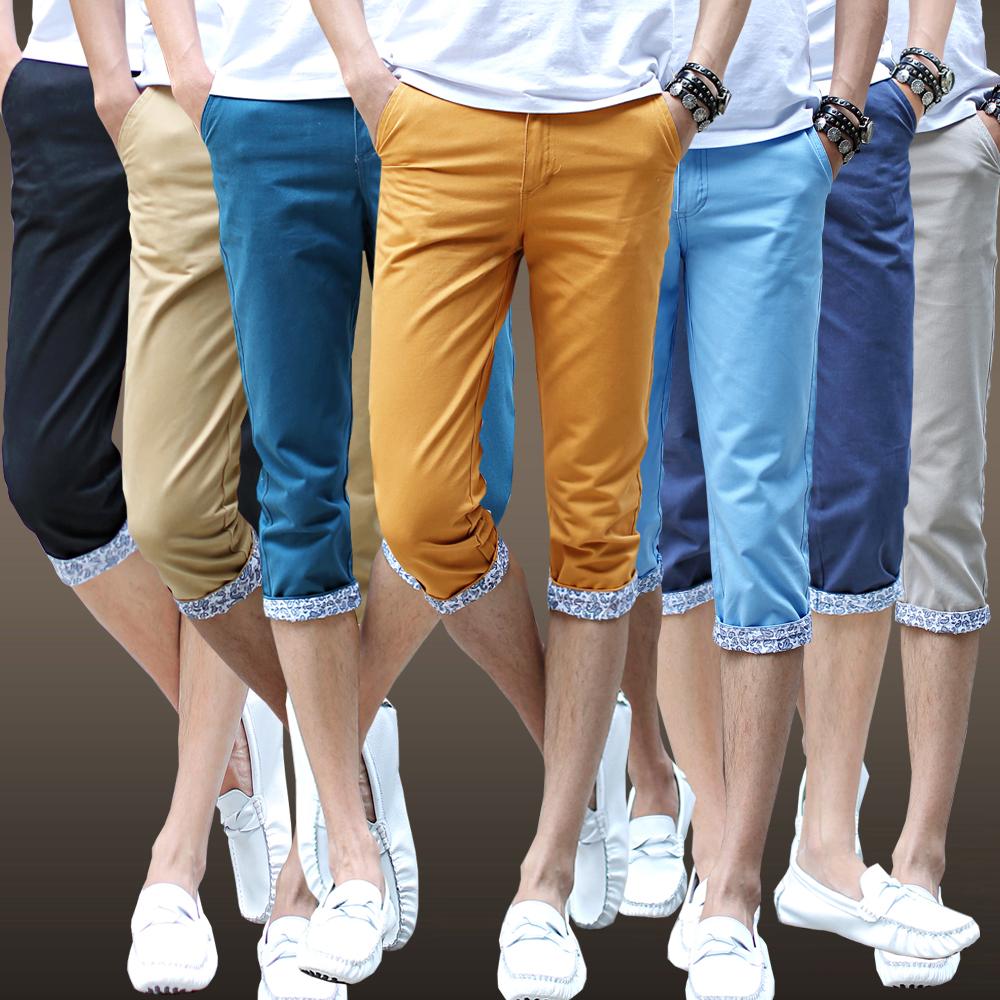mens skinny capri pants - Pi Pants