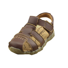 Summer Style 2015 Children Beach Sandals Boy Leather Sandals Kids Flat High Qaulity First Walker Shoes(China (Mainland))