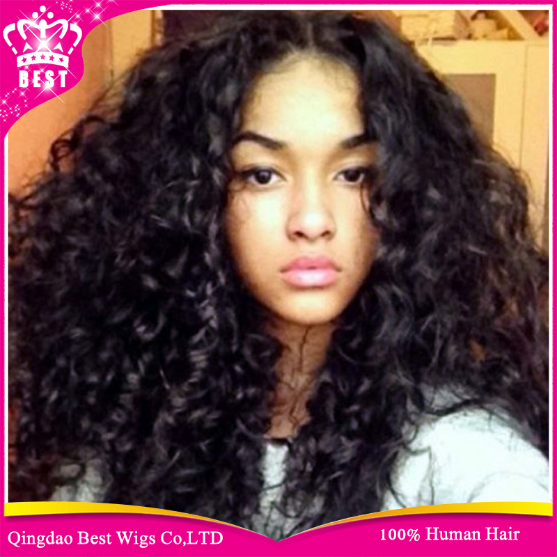 Hot Human Lace Front Wig For Black Women,Virgin Brazilian Curly Lace ...