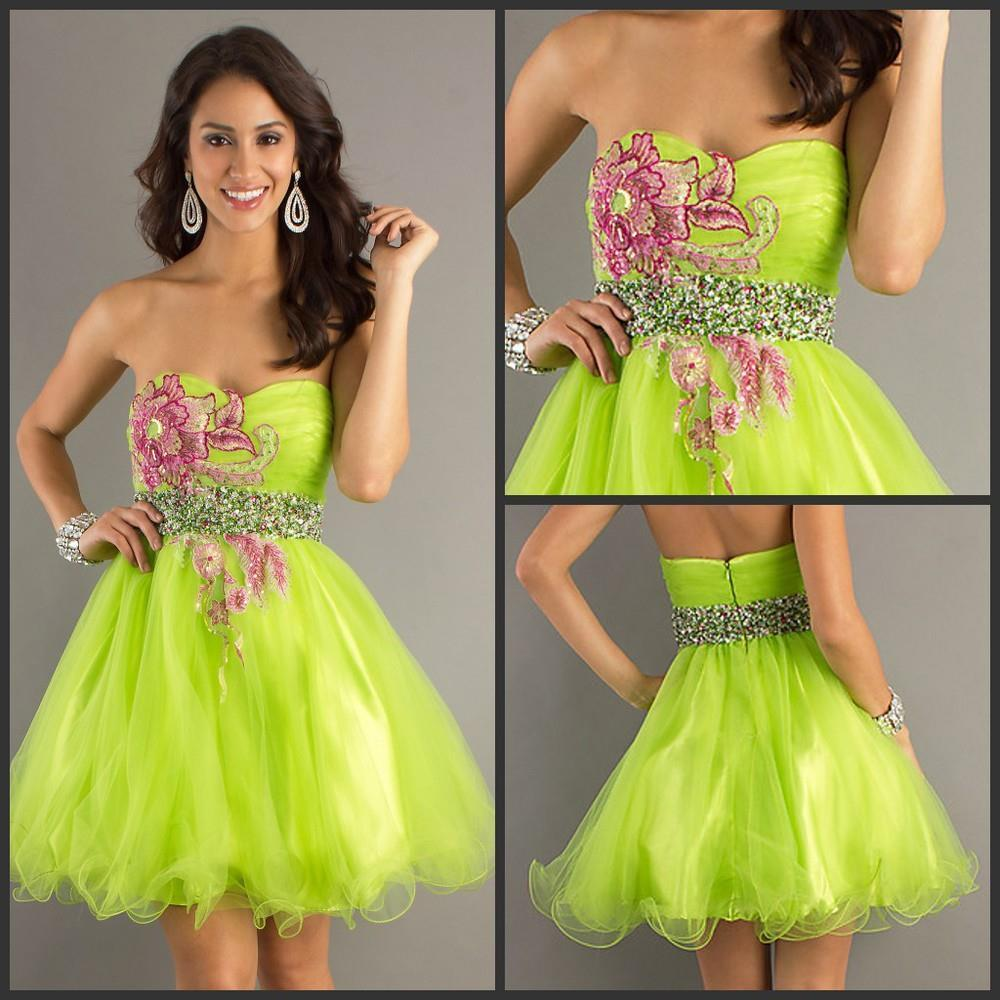 Pink and Green Party Dress