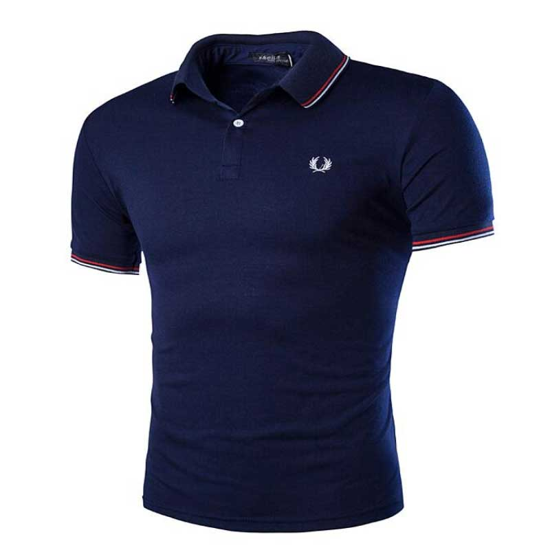 2016 summer new arrival men's polos fashion personality Embroidered logo decoration short-sleeve polo men casual slim mens polo(China (Mainland))