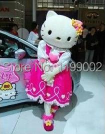 High quality of Hello Kitty Mascot Costume Hello Kitty Mascot costume, Terms head, No cardboard Free shipping(China (Mainland))