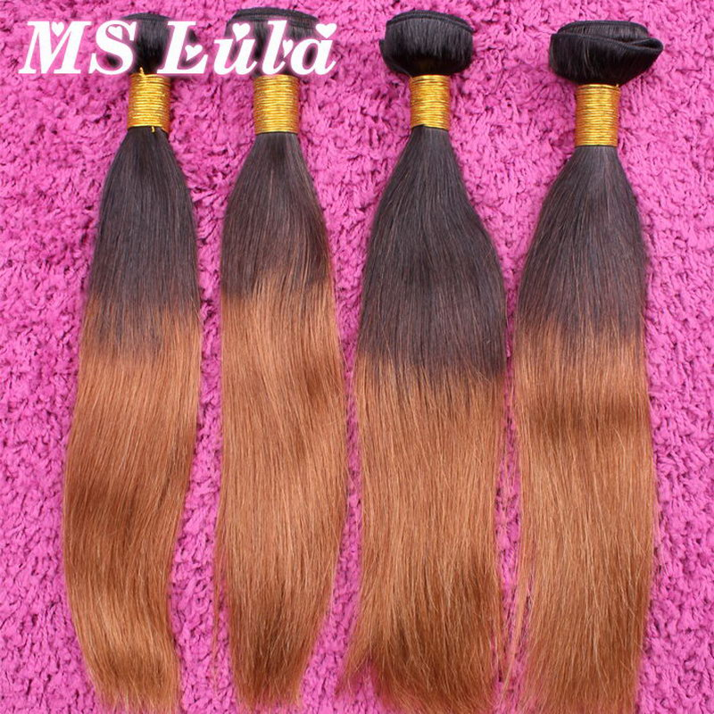 Wholesale Free Shipping Silky Straight Brazilian Ombre hair extensions weave bundles Queen hair products Factory<br><br>Aliexpress