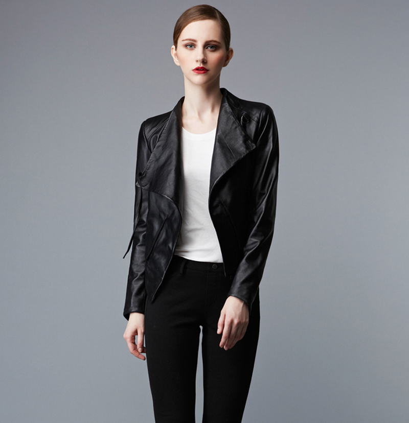 Factory Genuine Leather Jacket Women Real Soft Sheep Skin Fashion Black Pink Slim Fit Short Bomber Motorcycle Female Suits ZH172(China (Mainland))