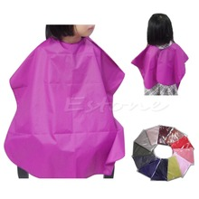 Children Salon Waterproof Hair Cut Hairdressing Barbers Cape Gown Cloth New Hot(China (Mainland))