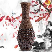 Jarrones Floor Vase 2015 Direct Selling Top Fashion Classic L Large 007 Vases Handwork Handmade Bamboo Size Weaving (China (Mainland))