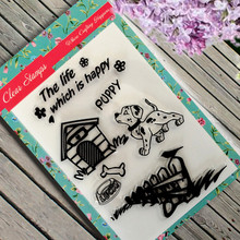 DIY Dog House Clear Stamp Scrapbook Photo Cards Rubber Seal Stamp Transparent Silicone Creative Decoration(China (Mainland))