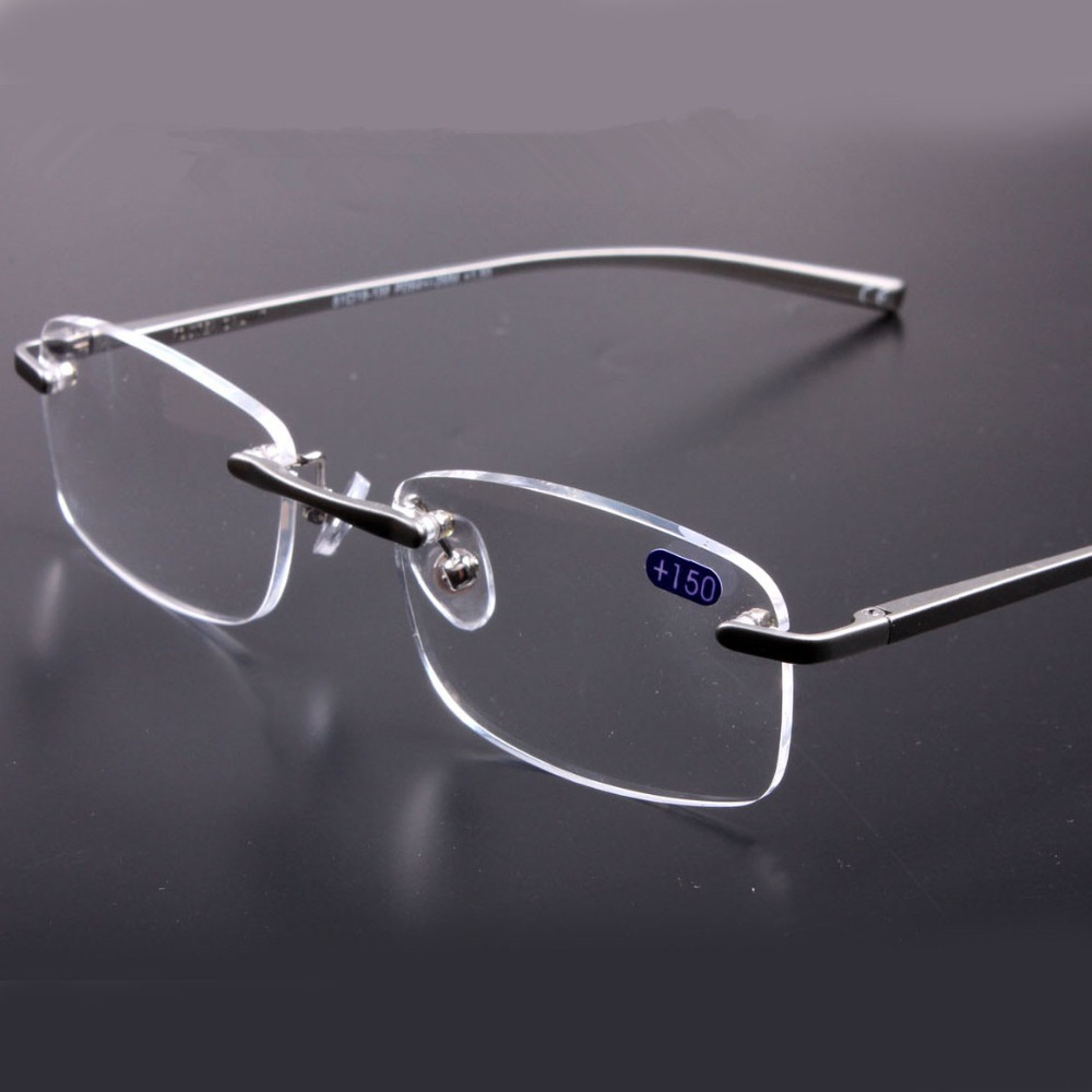 Reading Glasses No Frame : Aliexpress.com : Buy Super Quality Rimless Prescription ...