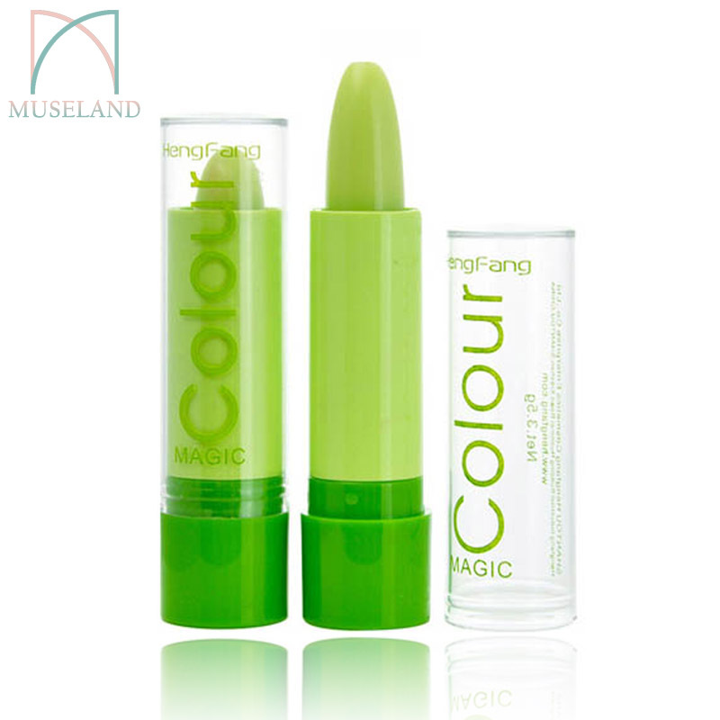 1Pcs Magic colour Temperature change color lipstick moisture anti-aging protection lip balm makeup #H114(China (Mainland))