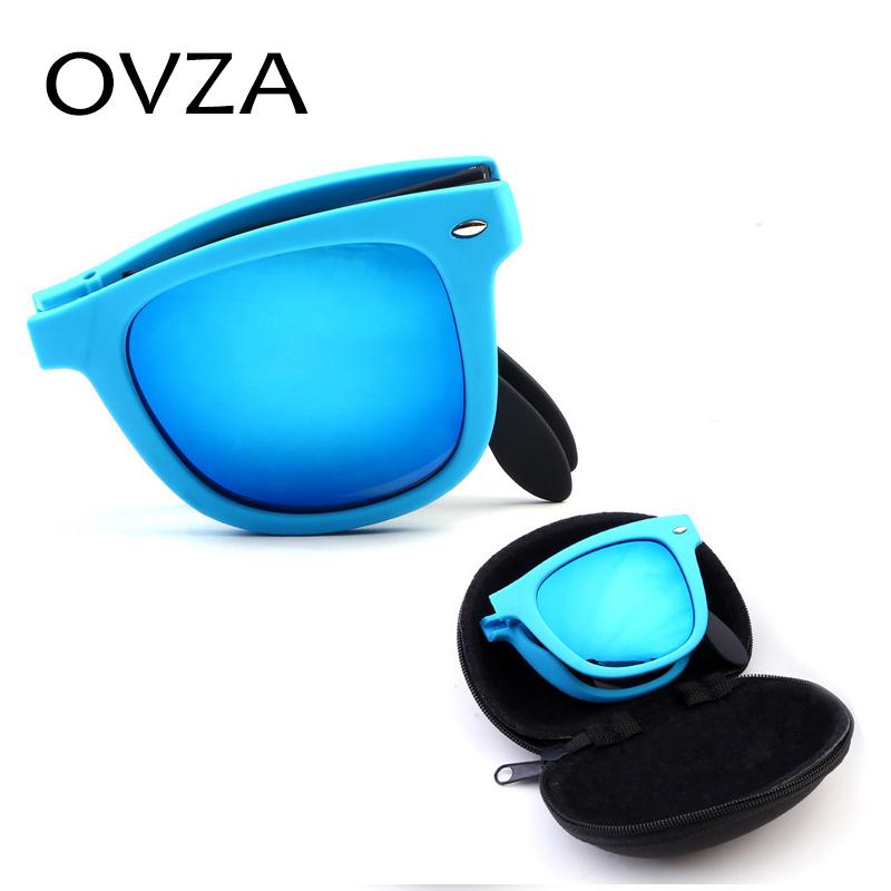 Ovza Classic Style Super Cool Foldable Fashion Sunglasses Men Colorful Double Color Women glasses UV400 A406(China (Mainland))