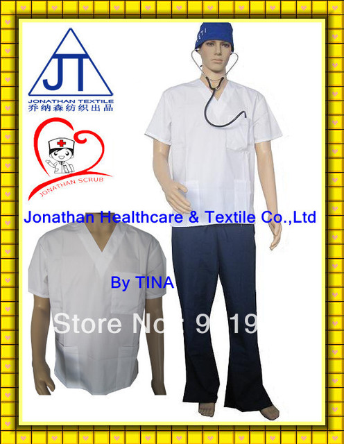 American White Medical Scrub Suits