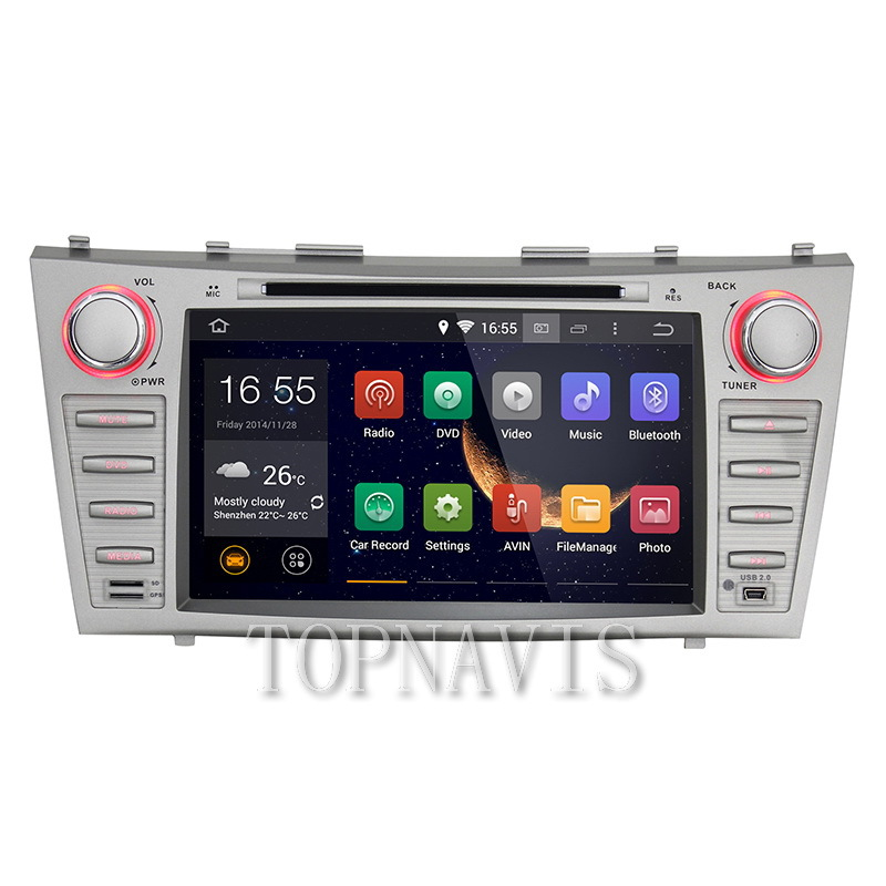 2 Din 8 Inch Touchscreen Car Dvd Player in android 4.4.4 Toyota Camry 2007-2011(China (Mainland))