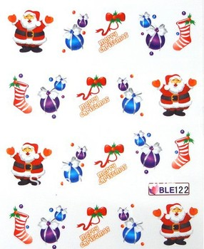 Free shipping BLE Series Nail Art decals/ christmas Design Nail stickers/ water transfer Nail art /BLE