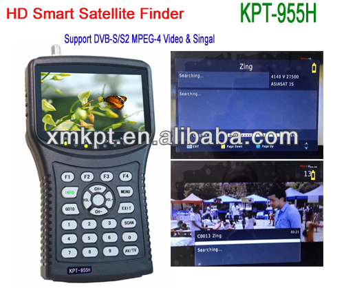 Big discount 4.3 inch hd handheld digital sat finder meter digital satellite finder signal dvb-s2 mpeg4(China (Mainland))