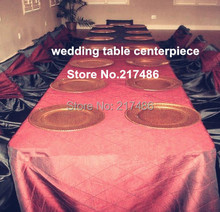 111 free shipping , 1000 pcs one lot ,gold mental chorme  charger plate , charger tray , for wedding decoration(China (Mainland))