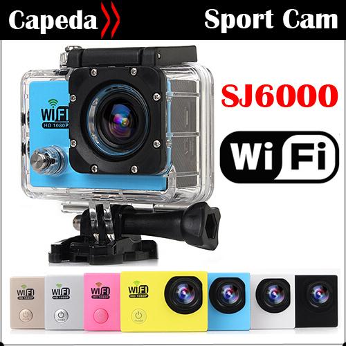 "SJ6000 WIFi Action Camera 2.0"" LCD Full HD 1080P/30fps 170deg Waterproof Diving 60M go pro helmet Sport Camera Not SJ4000 WiFi(China (Mainland))"