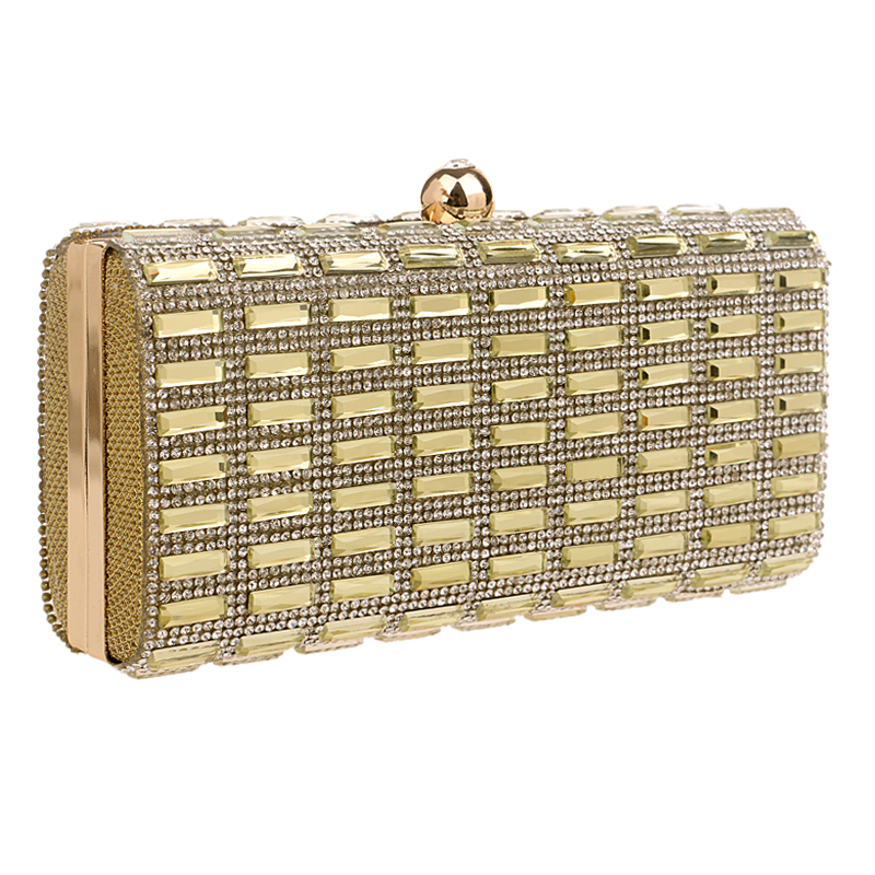 New arrival rhinestones metal day clutches evening bags chain shoulder handbags peacock diamonds crown evening bag for wedding(China (Mainland))