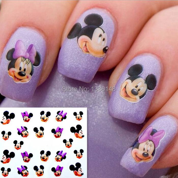 Cartoon Mickey Minnie Nail Beauty Art Sticker Decal Gel makeup nail tools adesivo de unha cheap wholesale 1238(China (Mainland))
