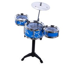 5PCS/Set Jazz Rock Drums Kids Toy Musical Instrument with Three Drums Christmas Birthday Gift(China (Mainland))