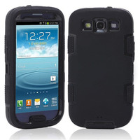 3 In 1 Combo Plastic Defendered Case Shockproof Cover for Samsung Galaxy S3 Duos i9300i i9300 S III Dual Layer Phone Cover