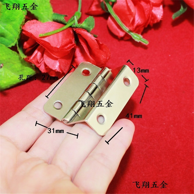 41MM 180 degree folded Wooden box gift Right Angle hinge 4 hole Silver packaging hardware accessories(China (Mainland))