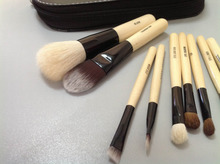 Wholesale Hot Sell 9pcs Mini Makeup Brushes Powder Blush Brush Cosmetic Make Up set with Leather