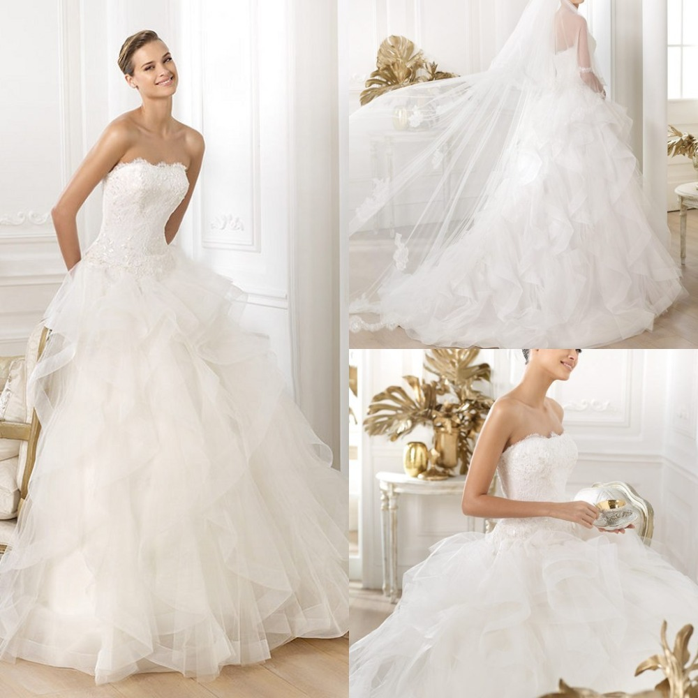 Discount elegant sexy backless wedding dress white floor for Strapless backless wedding dress