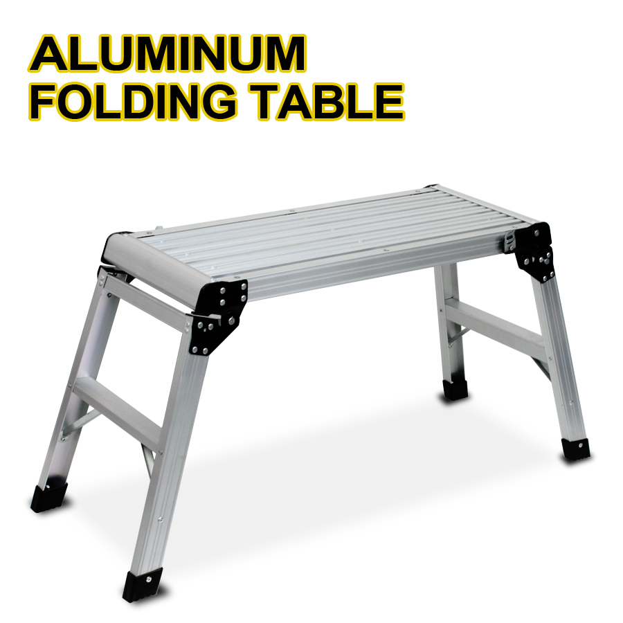 New Aluminum Platform Drywall Step Up Folding Table Work Bench Stool Work Bench In Stools