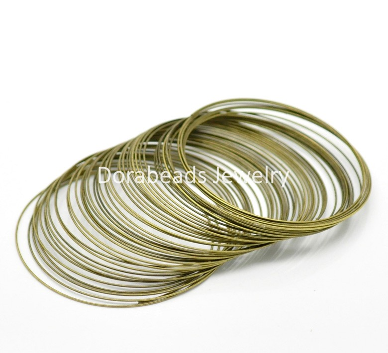 free shipping 200loops antique bronze memory beading wire