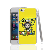17466 VR 46 the doc hard transparent Cover Case for Apple iPhone 4 4S 5 5S 5C SE 6 6S Plus
