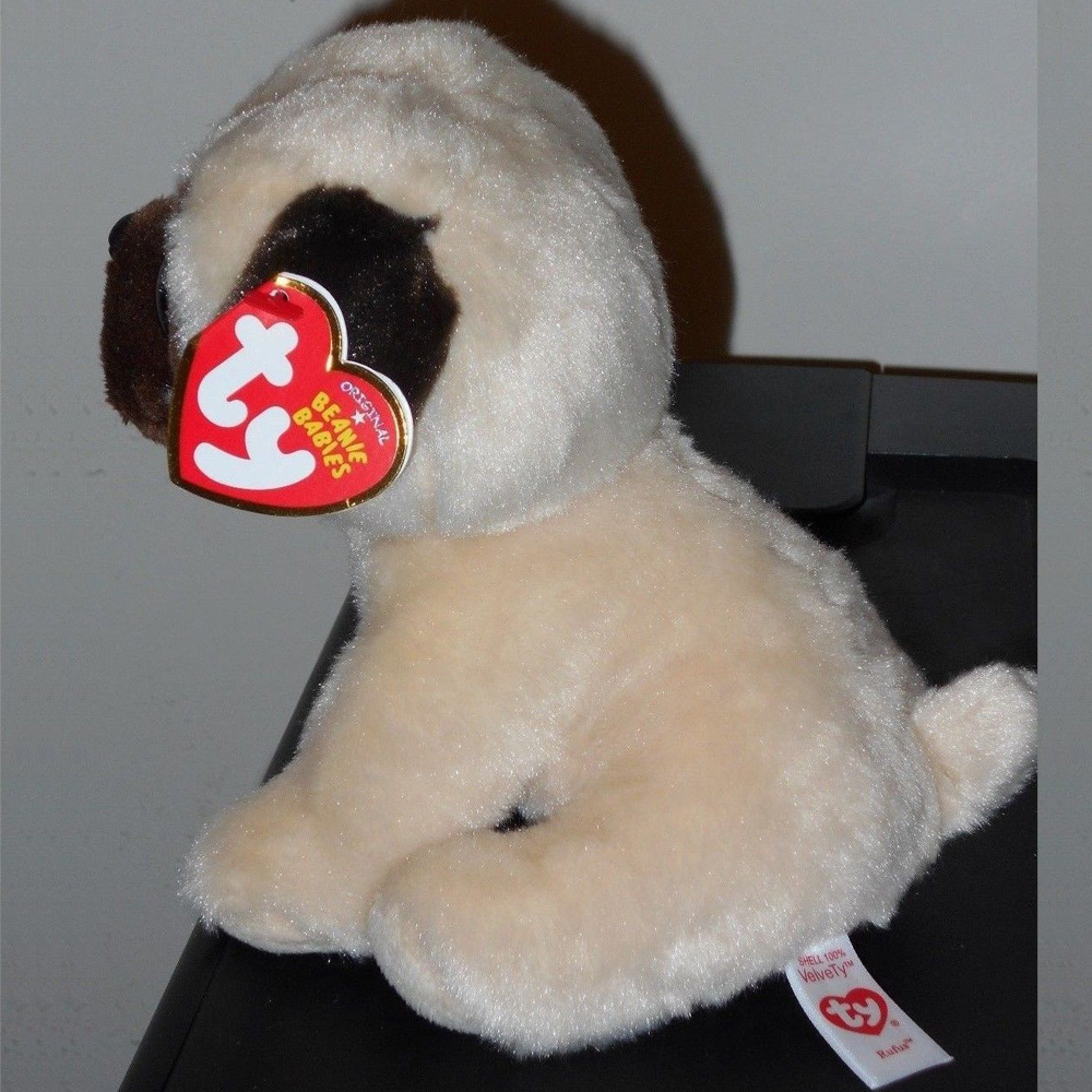 Pyoopeo Ty Beanie Babies 6 15cm Rufus The Pug Dog Plush Stuffed Doll ... c981c9138