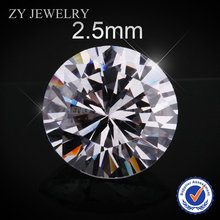 2.5mm Brilliant Cut Round White Vacuum Bag CZ Cubic Zirconia(China (Mainland))