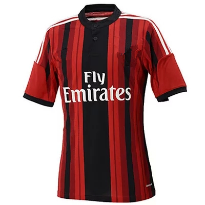 Hot sale 14-15 players with short sleeves shirt AC milan sports football jerseys free shipping(China (Mainland))