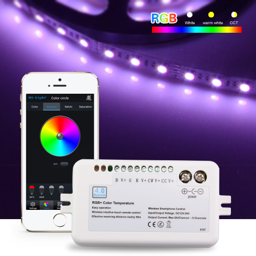 Mi light Bluetooth 4.0 RGB Led Controller For RGB/RGBW/CW/WW 5CH SMD5050 5630 Led Tape Light For IOS/Android APP Controller(China (Mainland))