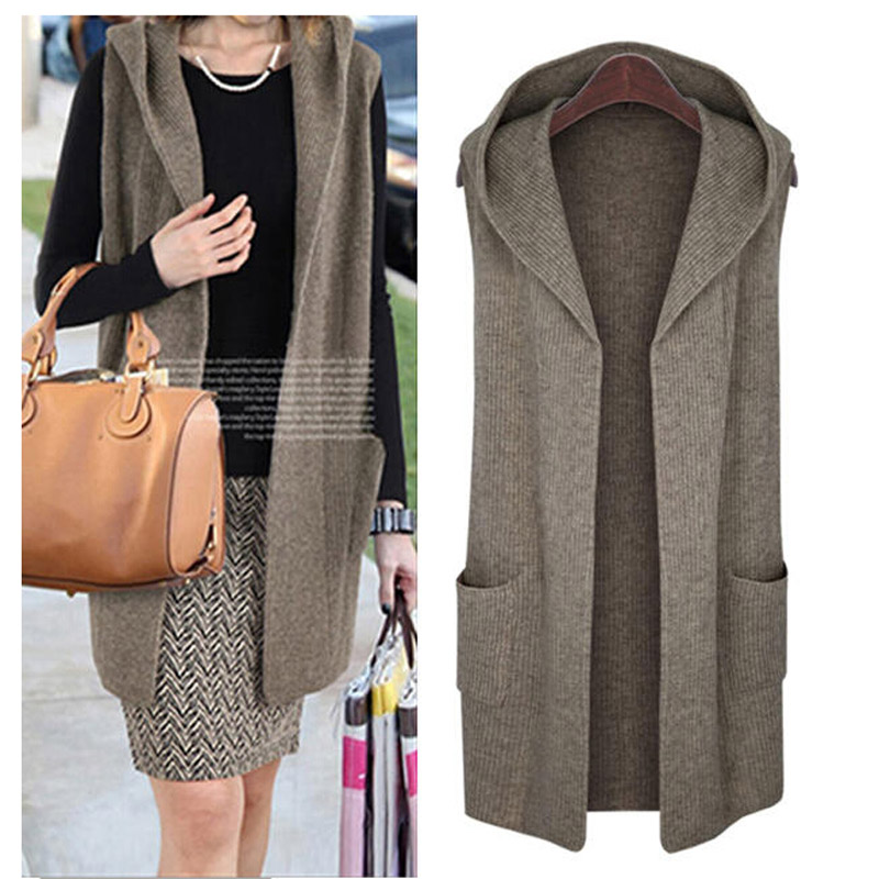Hooded Sweater Vests - Cashmere Sweater England