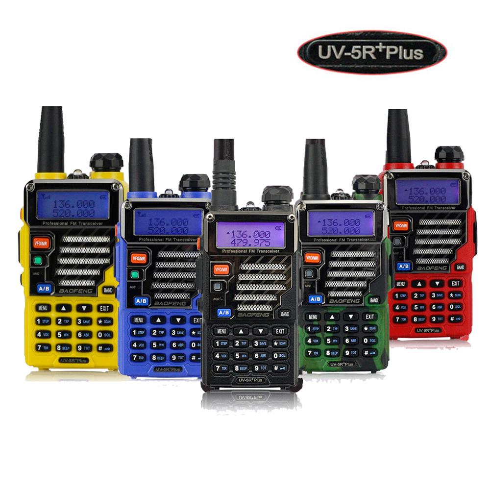 Baofeng UV-5R+Plus Walkie Talkie Dual Band Two Way Radio Pofung UV-5R+ 5W 128CH UHF VHF FM VOX Dual Display Qualette(China (Mainland))