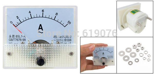 85L1-A Class 2.5 Accuracy AC 0-10A Analog Panel AMP Meter<br><br>Aliexpress