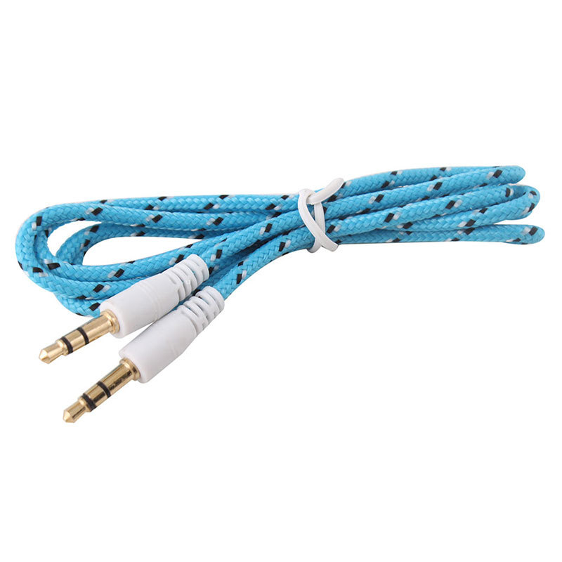 1M 3Ft 3.5mm Male to Male Plug Jack Stereo Audio AUX Cable Cabo Kabel for iPhone 5c 5s iPod Car Headphone MP4 MP3 #48634(China (Mainland))