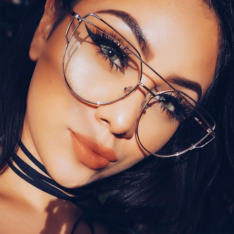 688cb0bca3 ... Female Vintage Glasses Clear Lens Optical Frames oculos de grau Unisex NO  Degrees. Hot-2017-Newest-Cat-Eye-Glasses-Frame-Women-