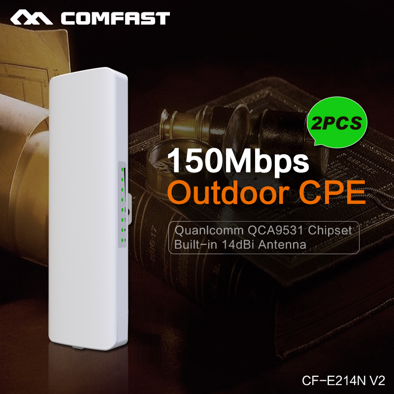 2PCS ~ COMFAST Wireless Wifi Amplifier Outdoor CPE POE Adapter wi-fi access point Antenna wi fi Roteador 150Mbps repetidor route(China (Mainland))