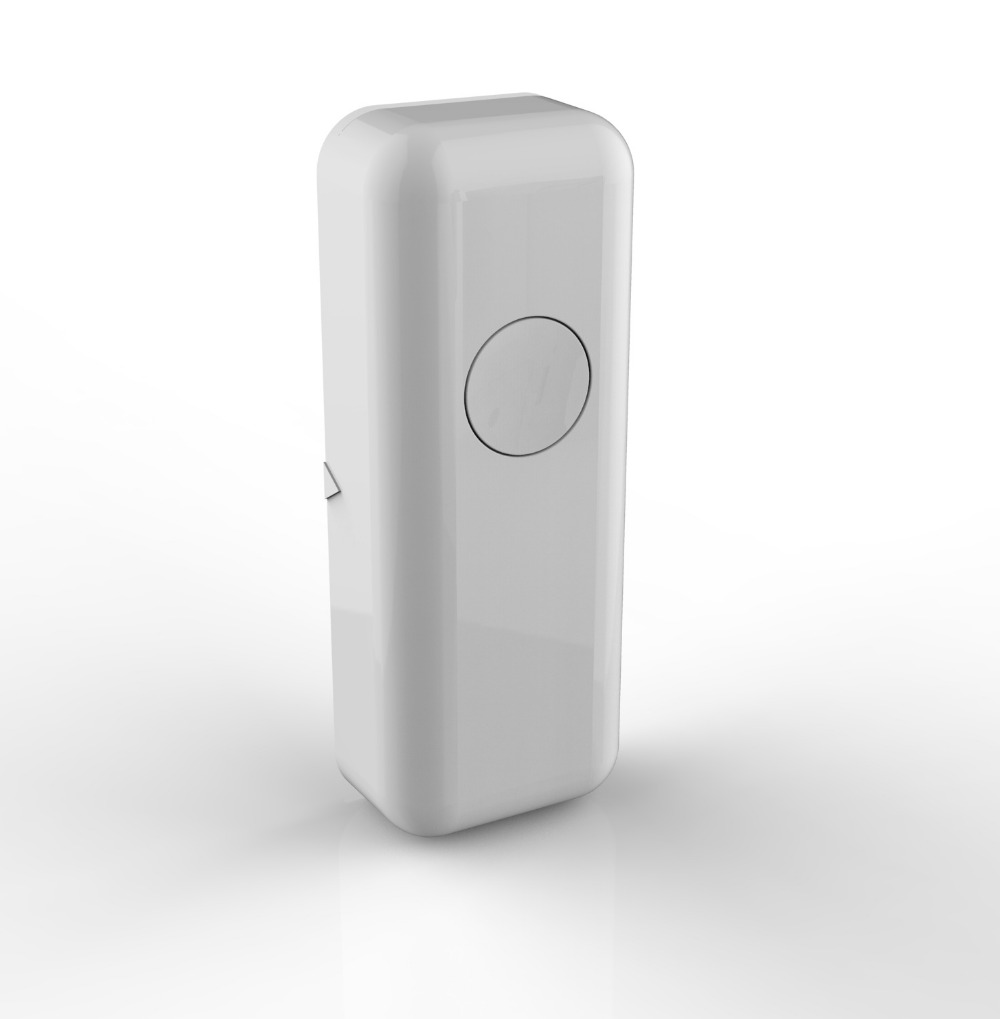 Ultra Small Mini Wireless Magnetic Contact Door Window Sensor Alarm Home Security Protection 433MHZ 1*3V button battery Included(China (Mainland))